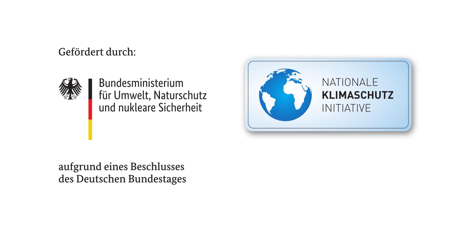 Gefördert durch Bundesministerium für Umwelt, Naturschutz und nukleare Sicherheit aufgrund eines Beschlusses des Deutschen Bundestages. Nationale Klimaschutz Initiative